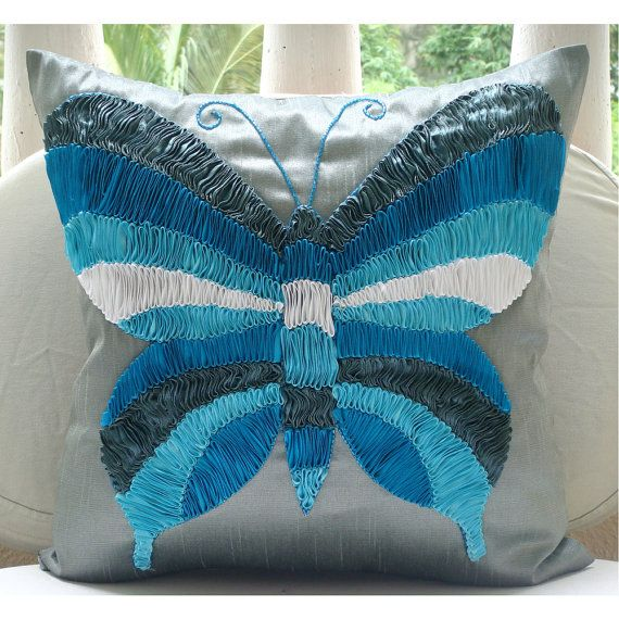Butterfly Dreams  Euro Sham Covers  26x26 Inches by TheHomeCentric