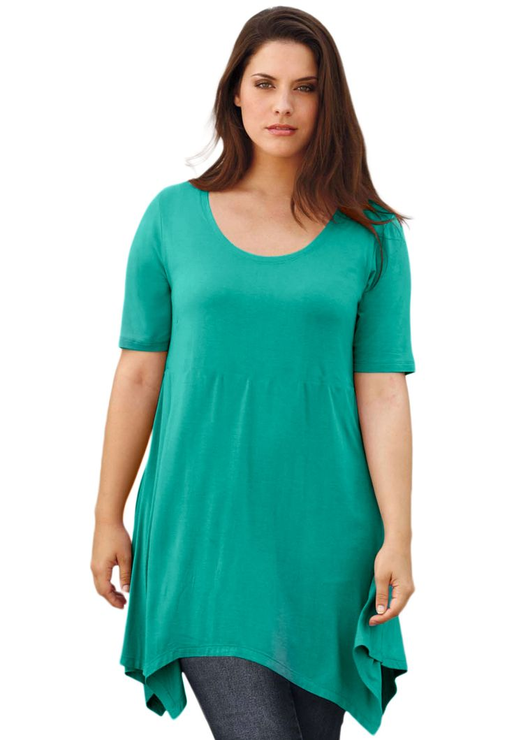28 best images about outfit ideas easter dress ideas on for Handkerchief shirt plus size