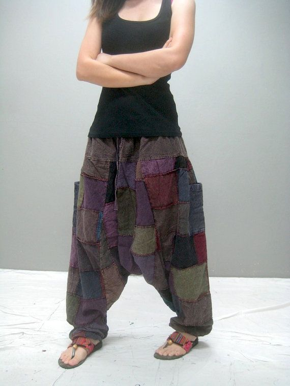 MEN Patchwork harem pant MEN 330.7 by thaitee on Etsy
