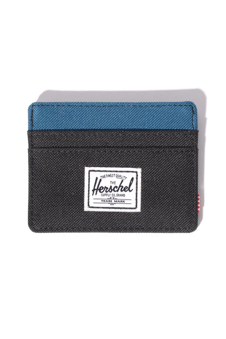 Great gift ideas for him! Herschel Supply Co. Mens Black Ink Charlie Beech Card Holder | South Moon Under
