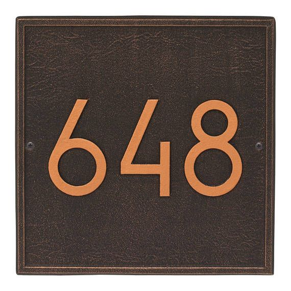 LEAVE THE NUMBERS FOR YOUR ADDRESS IN COMMENTS SECTION! - if I dont receive the information I will email you - I need to know what to put on the plaque :) Ramp up your curb appeal with the Square Modern Personalized Wall address plaque! The combination of contemporary font and