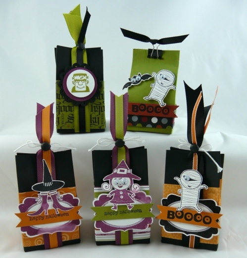 Halloween Treat Bags « Michelle's Stamping BlogHalloween Treat Bags, Halloween Bags Treats, Goodies Bags, Halloween Cards, Halloween Tags, Fun Ideas, Halloween Treats Boxes, Halloween Goodies, Halloween Treats Bags