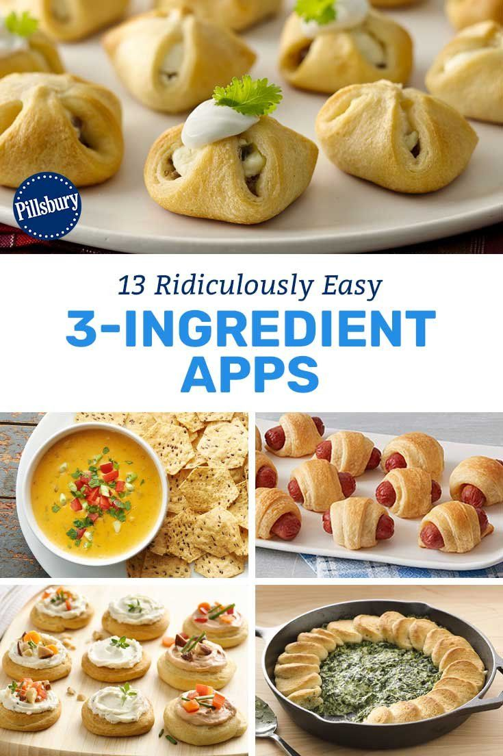 13 Ridiculously Easy 3 Ingredient Apps Appetizers Easy Finger Food Healthy Appetizer Recipes Appetizers Easy