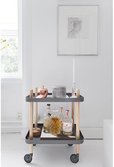 Normann Copenhagen table on wheels