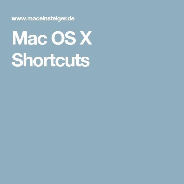 Mac OS X Shortcuts