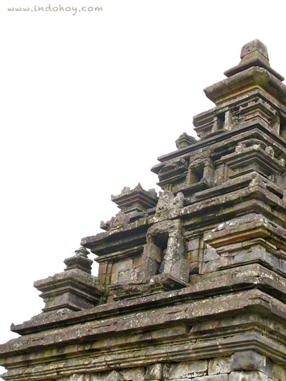 Meticulous work of the Indonesian ancestors more than a thousand years ago. Arjuna temple on Dieng Plateau, Central Java.