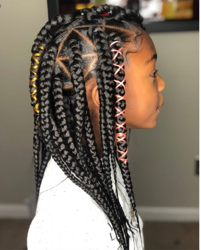 Box Braids Black Kids Hairstyles African American Girl