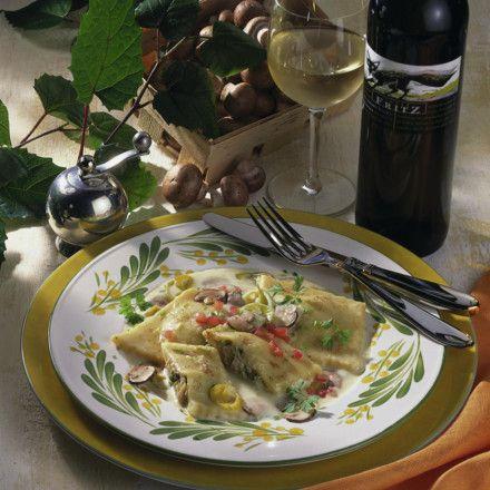 Kartoffel-Ravioli mit Porree-Pilz-Füllung Rezept | LECKER
