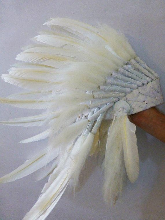 For Children Indian White Feather Headdress by THEWORLDOFFEATHERS, $59.90