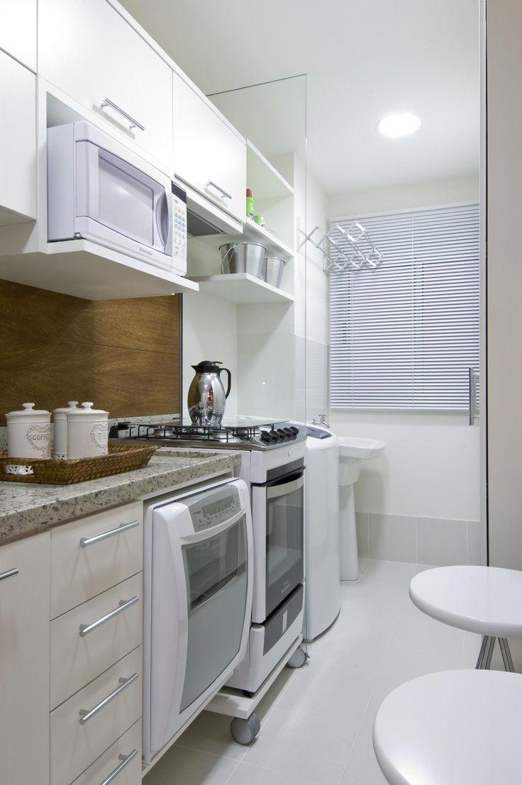 Cozinha pequena e area de servi o juntas pesquisa google for Petite cuisine kitchenette