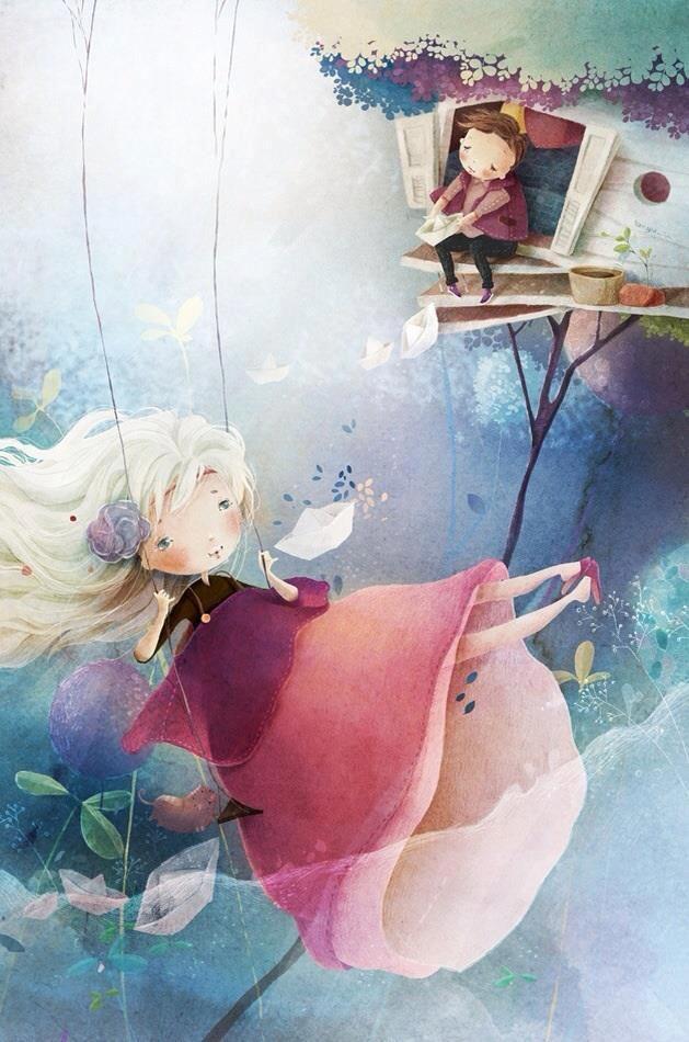 Sweet couple...: Paintings Life, Tamypu Deviantart Com, Islamtruli Inspiration, Children Illustrations, Ilustraçõ, Tiny Dreams, Tamypu Art, Ilustr Infantil, Child Ilustr