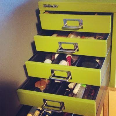 Prettier Wednesday: Bisley Cabinet Makeup Storage