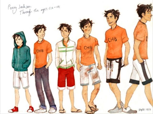 Percy Jackson through the years...wait oldest percy why are you leaving?! Nooooooo...<----Calm down,He must be going to see Annabeth