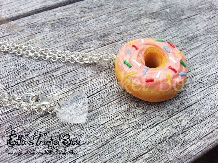 Handmade Donut Necklace inspired by Homer Simpson!  Available for purchase at www.facebook.com/EllasTrinketBox