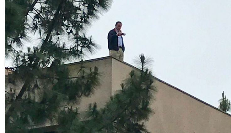 Darrell Issa Hides On A Roof To Because He Is Too Afraid To Face People Angry About Trumpcare