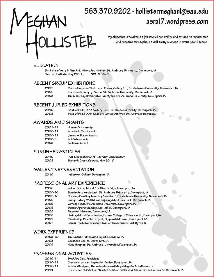 Cv Template Artist Artist resume, Makeup artist resume