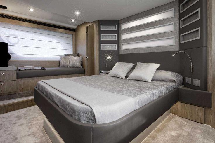 The #Interior #Design #MadeInItaly on board of the Ferretti #Yachts 650 New