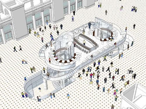 Concept Diagram, Restaurant And Food Court Design