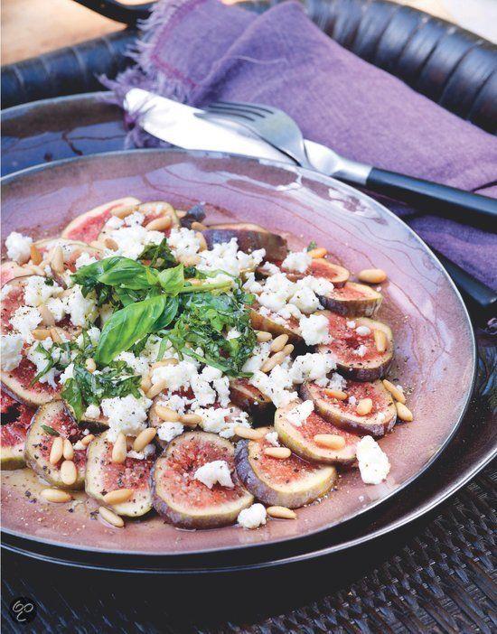 Carpaccio van vijgen met feta uit Puur genieten 2, Pascale Naessens #Vegan #Healthy #Food