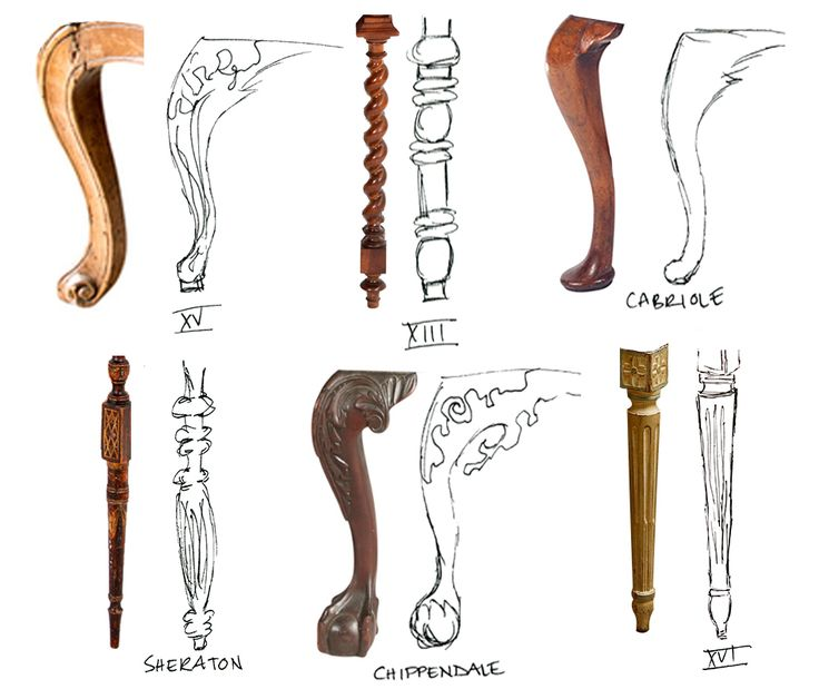 Design 101: French  And English Style Antique Chair Legs
