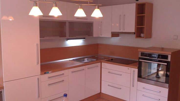 Modern kitchen: 3D foiled and aluminium frame fronts