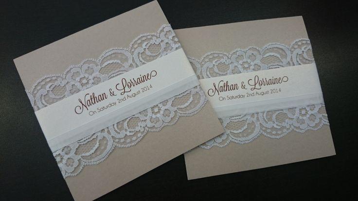 Handmade lace invitation