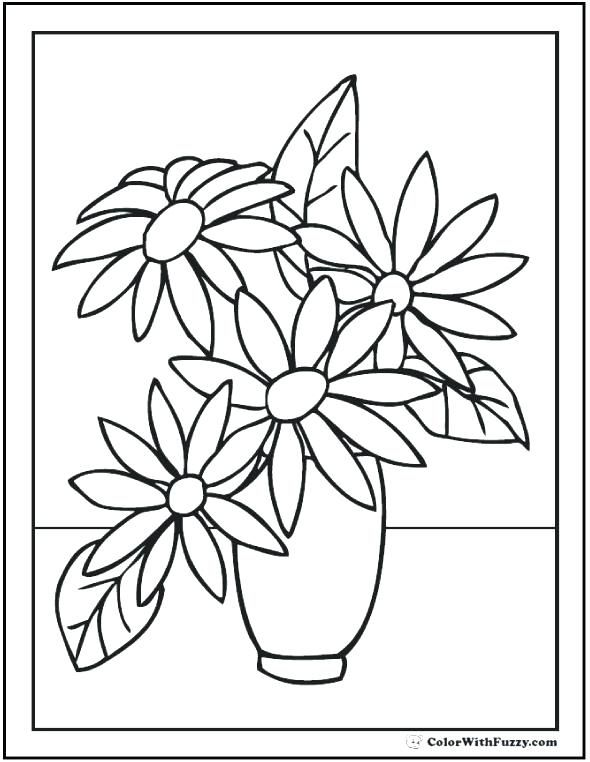 Flower Coloring Sheets Best Coloring Pages For Seniors For