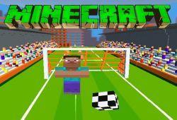 Minecraft tiene un juego de fútbol que queremos compartir con los fan de juegos. Steve se ha cansado de cazar y matar zombies que ha decidido hacer una liga de fútbol. Pasa el balón a tus compañeros hasta llegar a la portería contraria para meter un gol. ¿Te apuntas a la liga de Minecraft?.