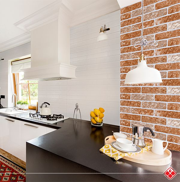 A la hora de diseñar un nuevo espacio en el hogar o de renovarlo, es importante que puedas añadir tu estilo para que el espacio muestre tu toque personal y una buena idea de aquello son las cocinas con Bricks Cerámicos, las que le darán un giro a la convencional manera de construir y que marcarán tendencia. #interiordesign