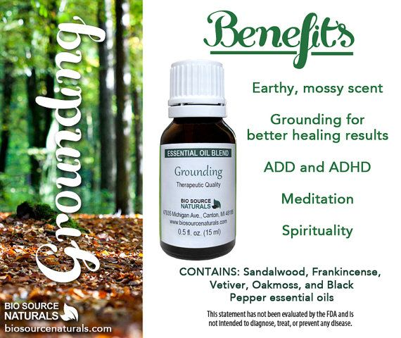 Grounding Essential Oil Blend is helpful for ADD and ADHD.  #aromatherapy