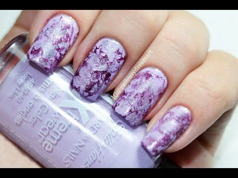 Purple Turquoise Marble Stone Nails | Малахитовый Водный Маникюр - YouTube