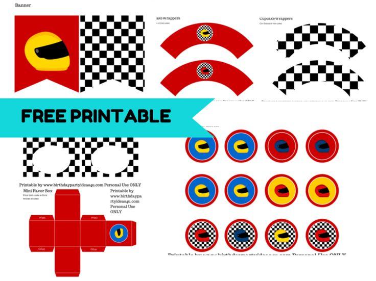 Printable Race Car Birthday Invitations