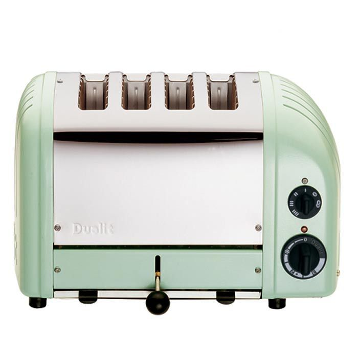 Mint Green Kitchen Appliances: 4-Slice Classic Toaster II In Mint Green