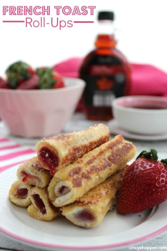 French Toast Roll-ups. Great to have for breakfast on the go (or anytime). My kiddos new favorite breakfast.