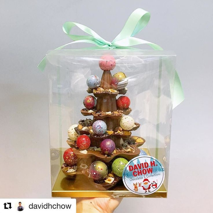 #Repost @davidhchow (@get_repost)  First prototype of the tiered chocolate bauble tree. 5 layers of milk and dark chocolate studded with pistachios hazelnuts almonds figs cherries raisins blackcurrants cocoa nibs candied grapefruit peel crystallized ginger and finally sea salt. Whew... a mouthful (literally and figuratively)!! Coming soon... #chowtastic #chocolate #chocoholic #Christmas #tree #christmastree #ornament #bauble #holiday #bakelikeaproyoutube