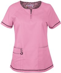 Koi Scrubs Limited Edition Cool Cheetah Pink Jasmine Top