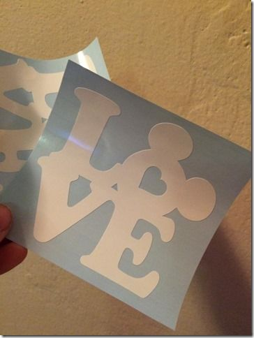 Mickey Love Decal Perfect For Any Disney Fan!