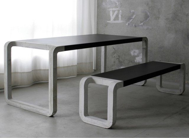 Exceptional Concrete Bench U0026 Table By Metrofarm (concrete, Wood, Linoleum) | Design To  Die For | Pinterest | Concrete Bench, Concrete And Bench