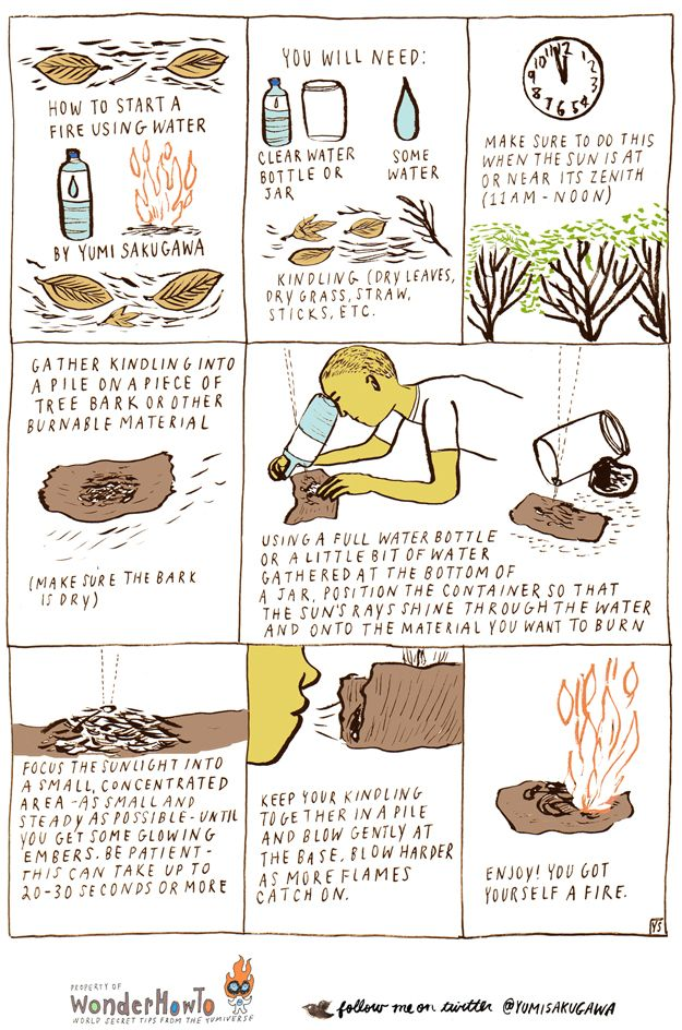 Fire with water? Great survival tip!