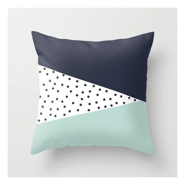 cult living scandinavian abstract dot cushion navy