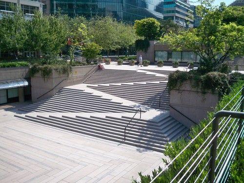 Robson Square, Vancuver.  Designed by Arthur Erickson and Cornelia Oberlander
