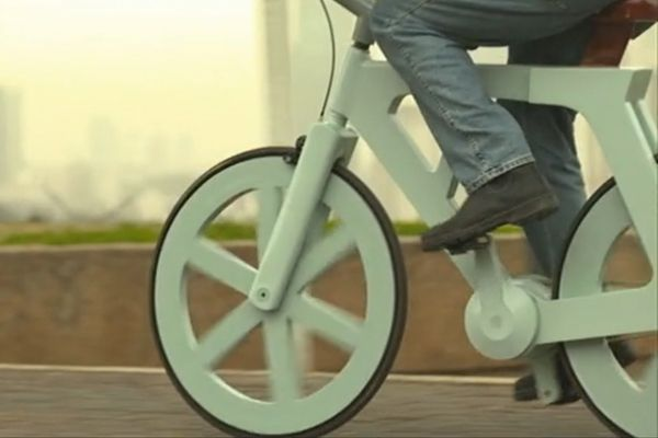 Cycle on the Recycled: A $9 Cardboard Bike Set to Enter Production in Israel