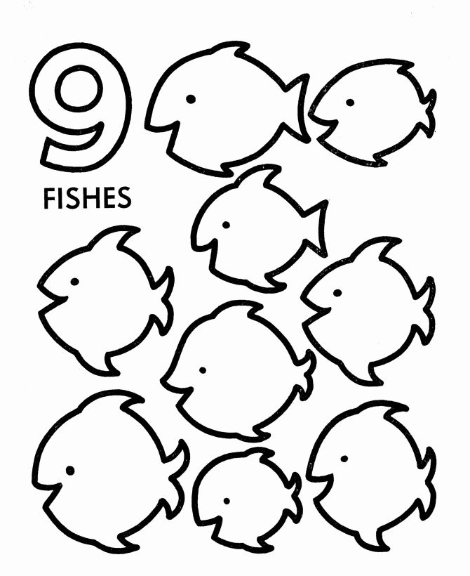 Number 9 Coloring Pages Fresh Counting Activity Sheets In 2020
