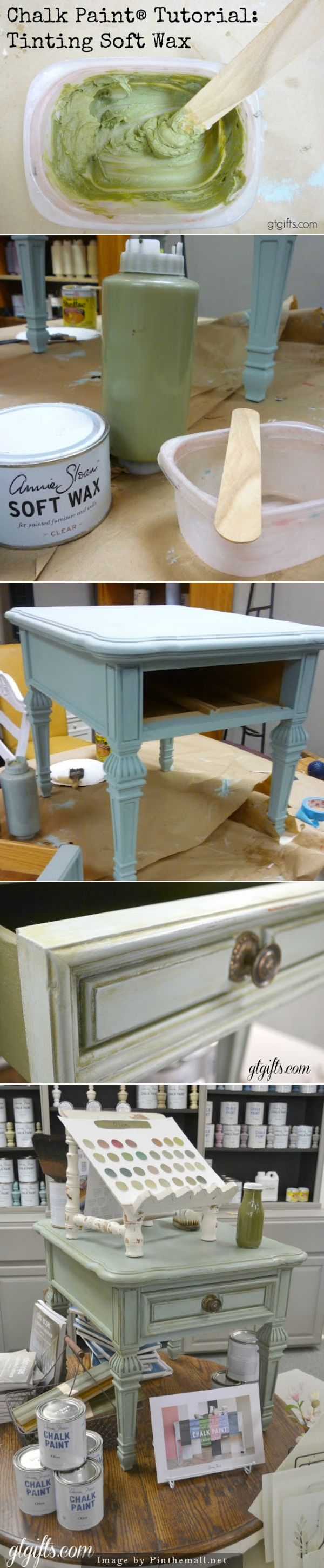 Tint Your wax for new color combos Annie Sloan Chalk Paints