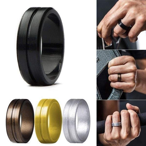 Rubber Male Wedding Rings Di 2020