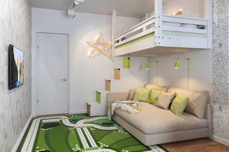 ロフトベッドで無駄なスペースを解消しよう| homify Japan ロフトベッドの梯子、柵、棚