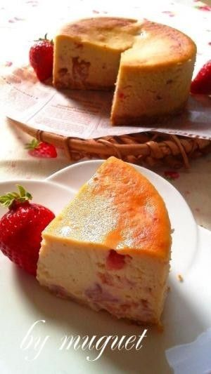 いちごのベイクドチーズケーキ by muguet: [クックパッド] 簡単おいしいみんなのレシピが226万品