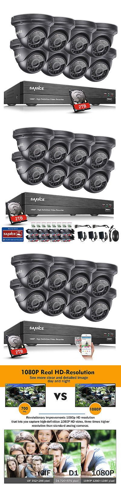 Surveillance Security Systems: Sannce 8Ch 1080P Hd 2Tb Hdmi Dvr 2000Tvl Outdoor Ir Home Security Camera System -> BUY IT NOW ONLY: $382.49 on eBay!
