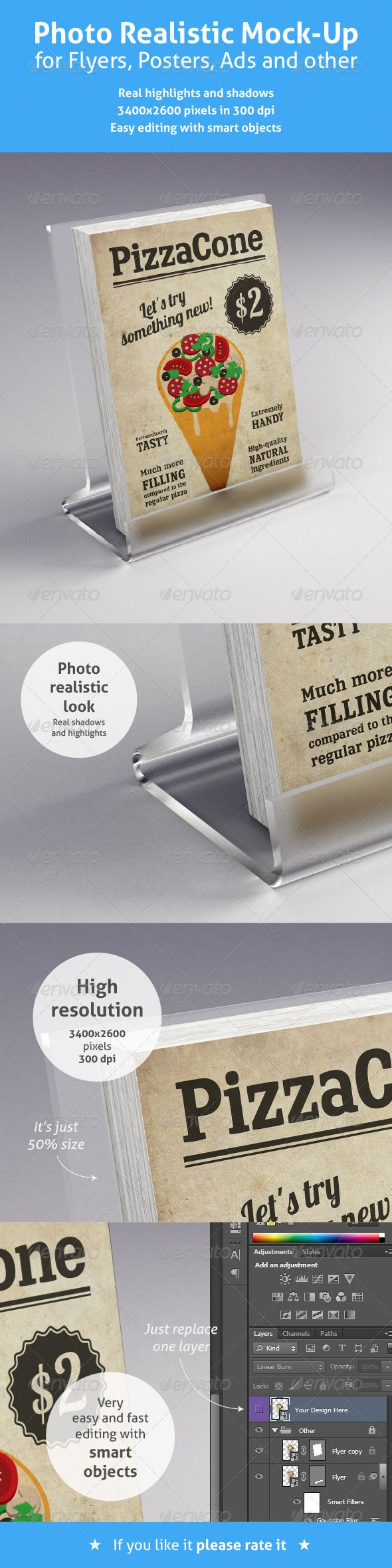 6 poster design photo mockups 57079 - Realistic Mock Up For Flyers Posters And Other