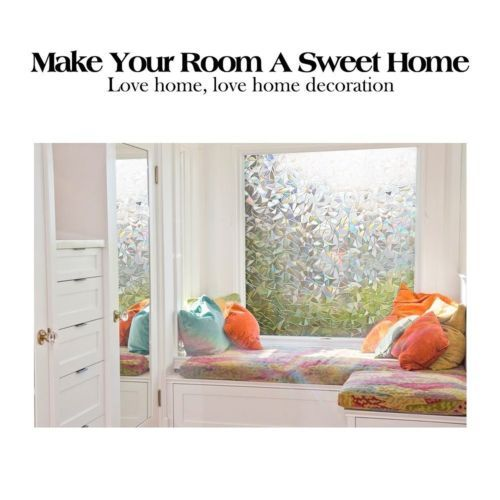 3D Frosted Privacy Window Glass Films Anti UV Control Heat Home Decor